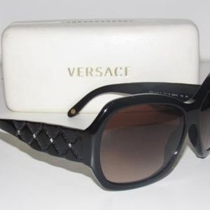 Versace Marbleized Brown with Rhinestone Accents